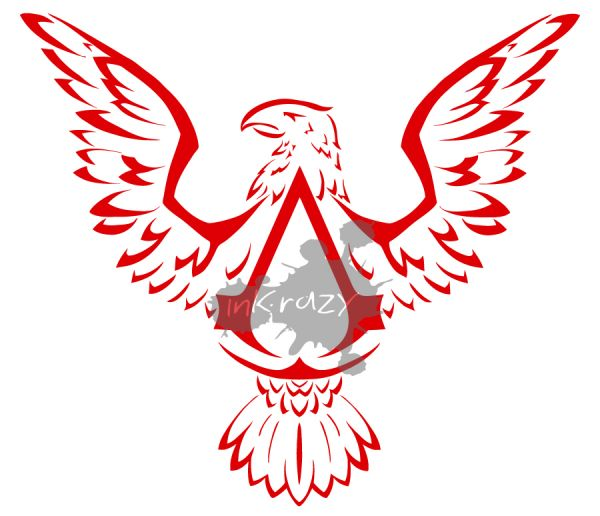 Estampa Assassins Creed 3 Emblema - Camiseta Branca - Loja de inkrazy